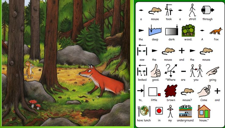 Symbol-based version of The Gruffalo - let's get inclusive!