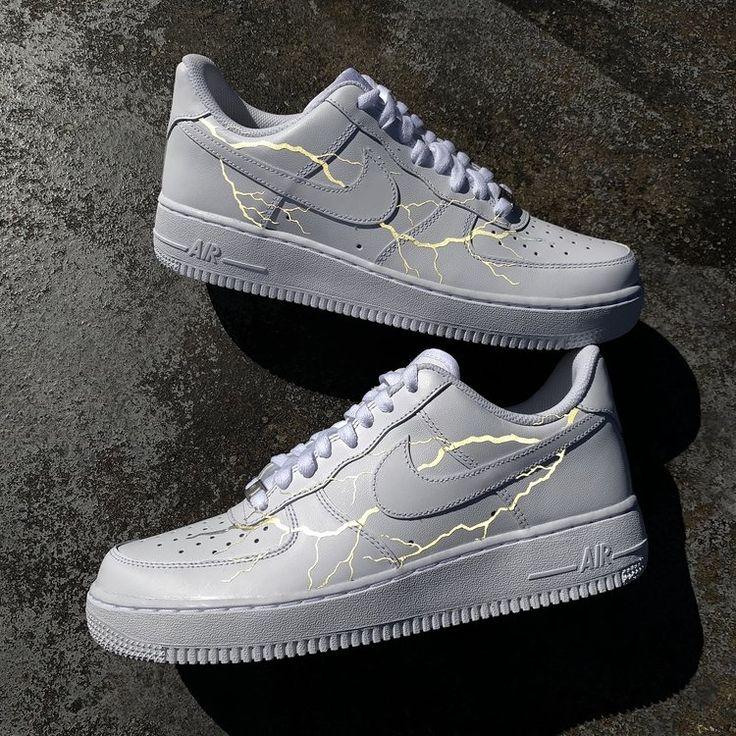 3M Lightning Air Force 1 Custom Schuhe damen, Nike