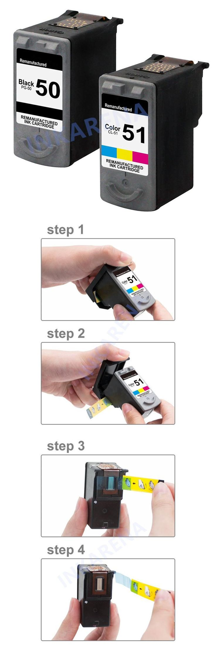 [Visit to Buy] 1Set Ink Cartridges PG 50 CL 51 PG50 CL51 For Canon Pixma iP2200 iP6210D iP6220D MP150 MP160 MP170 MP180 MP450 MP460 MX300 MX310 #Advertisement
