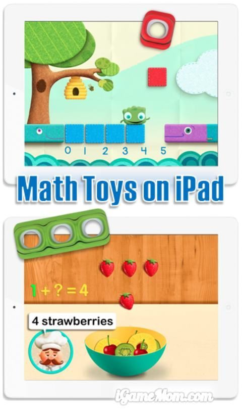 Interactive math toys on iPad offers hands-on learning with 6 free apps - you can use the free apps without toys too.