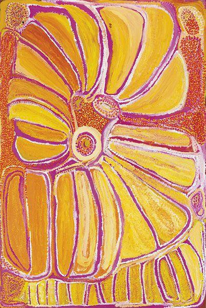 Eubena Nampitjin  Kinyu  2002  Synthetic polymer paint on linen  180 x 119 cm