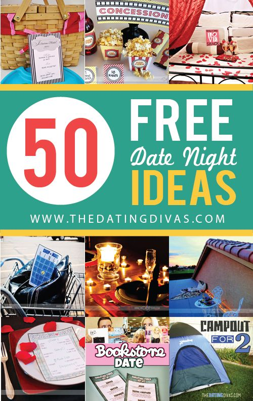 50 Free Dates Night Ideas! I totally NEED this! www.TheDatingDivas.com