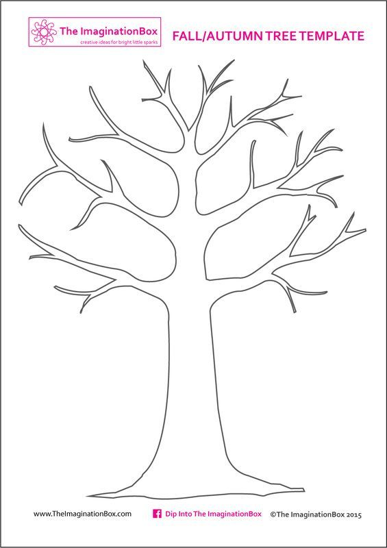 Print this free Tree Template from The ImaginationBox to create your own…