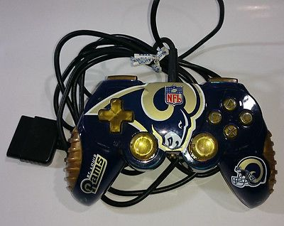 PS2 St. Louis Rams NFL Controller Playstation 2 Los Angeles LA Tested Working