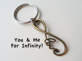 Infinity Keychain Infinite Love Keychain Gift by JewelryEveryday - Great for 8th wedding anniversary