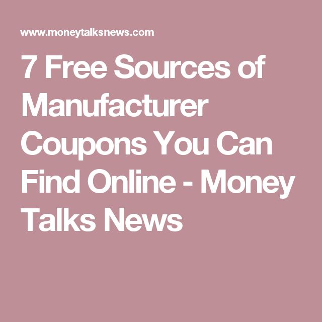 7 Free Sources of Manufacturer Coupons You Can Find Online ‒ Money Talks News