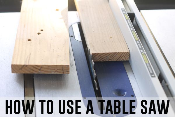 A very basic guide for beginners on how to use a table saw. Step by step directions in plain English, so you can put that tool to good use!