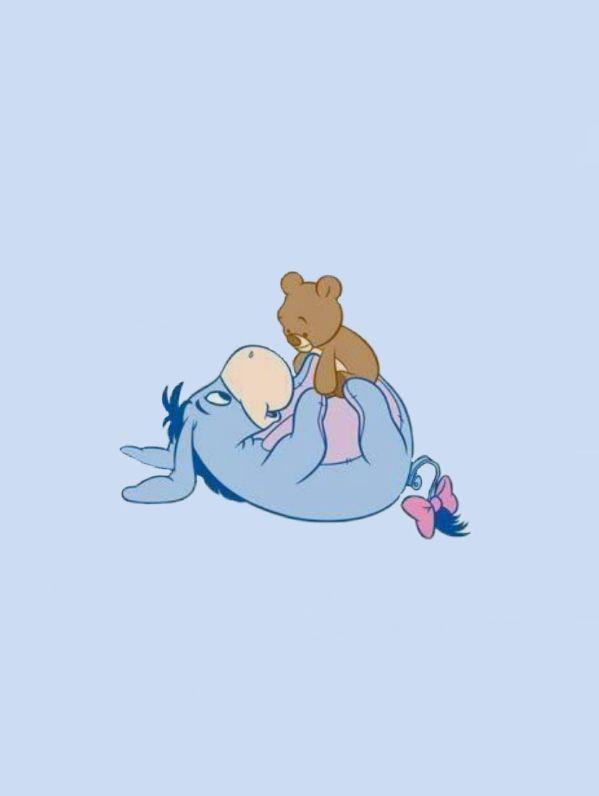 Aesthetic Blue Eeyore In 2019 Cute Disney Wallpaper