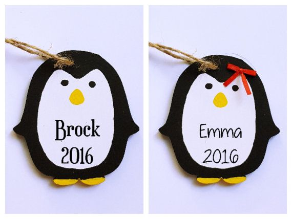 Cute Penguin Ornament Penguin Ornament by TheSensoryEmporium