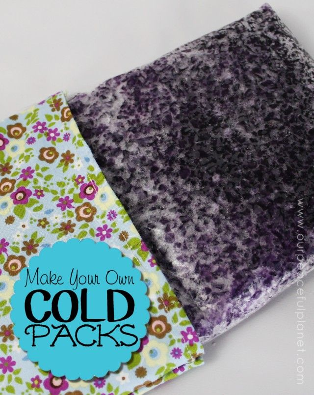 Make your own cold packs to use for sprained muscles or just to help you cool off! They are fun and easy and we've got FREE PRINTABLE instructions along with the directions on how to make a nice cover for them!