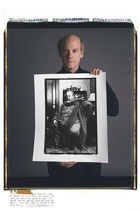 Timothy Greenfield-Sanders. Orson Welles, set de filmación, Canadá. Finales de los 70.. Foto: Tim Mantoani