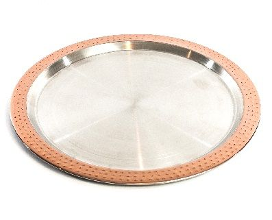 6040 Cuisivin Bel-Air Barware – Bar Tray  Serve in style with the new Cuisivin Bel-Air Barware Collection. The beautiful hand crafted collection of barware is made of stainless steel with an accented hand-hammered exterior and mirror copper finish