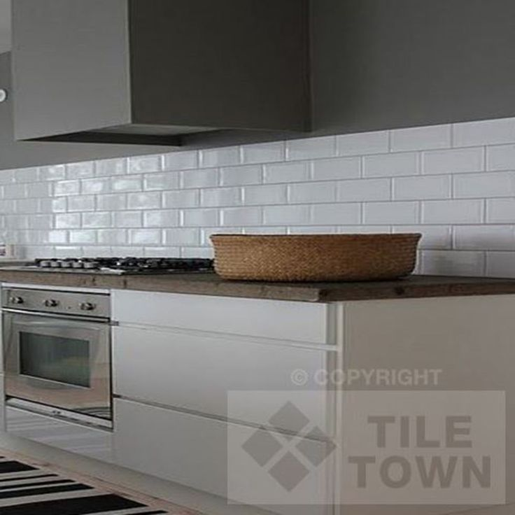 Contemporary Kitchen Tiles Brick Effect Tile Wallpaper In Red Real