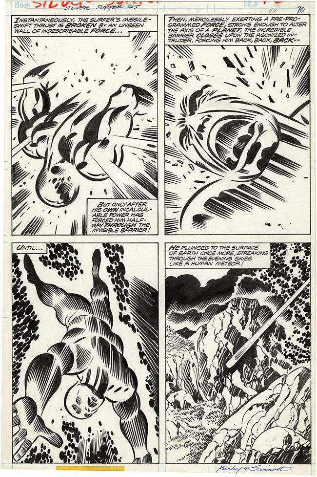 silver surfer page jack kirby