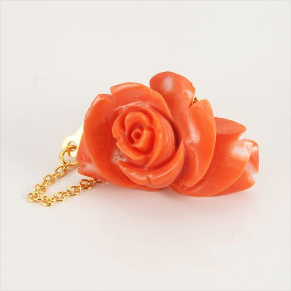 【GINZA PARIS】K18 珊瑚 领带别针/32,000日元