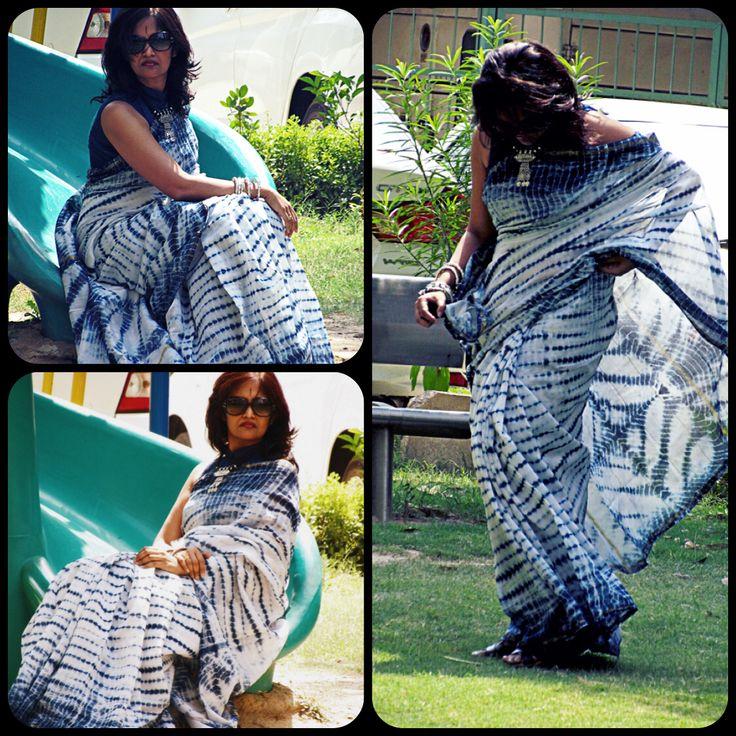 Shibori in Chanderi #Saree