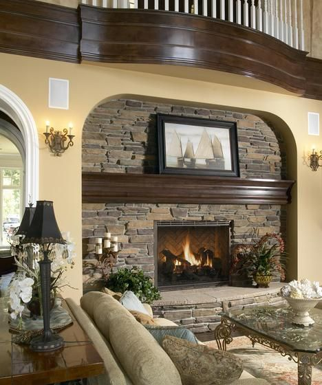Stone Fireplaces Ideas: 37 Best Stone Fireplaces Images On Pinterest