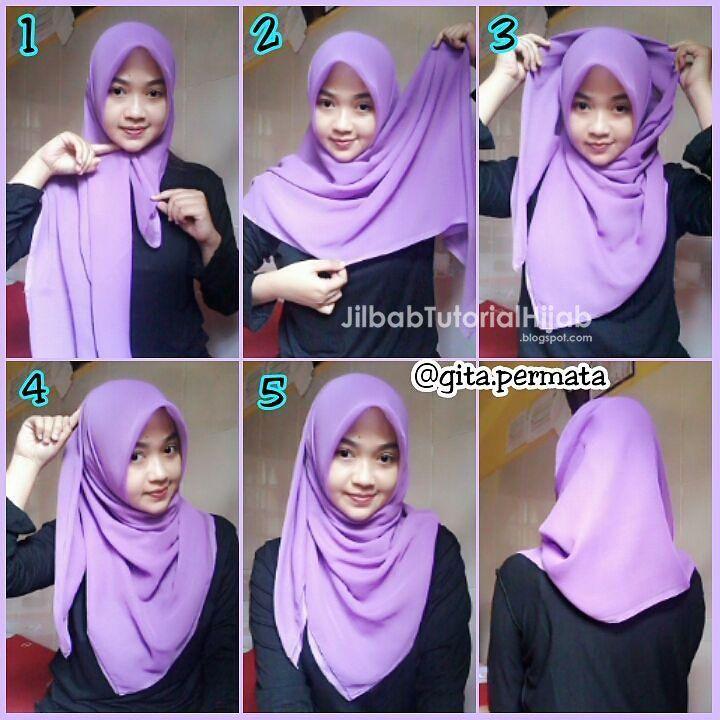 6 Cara Memakai Hijab Segi Empat Simple Dan Mudah Hijab Tutorial