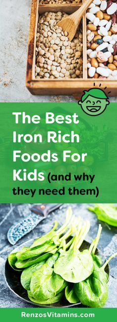 Iron Rich Food for Kids | Iron Deficiency | Sickle Cell | Leafy Greens | Kids Vitamins | Anemia | Iron Supplements | Children Health | Low Iron | Renzos Vitamins |