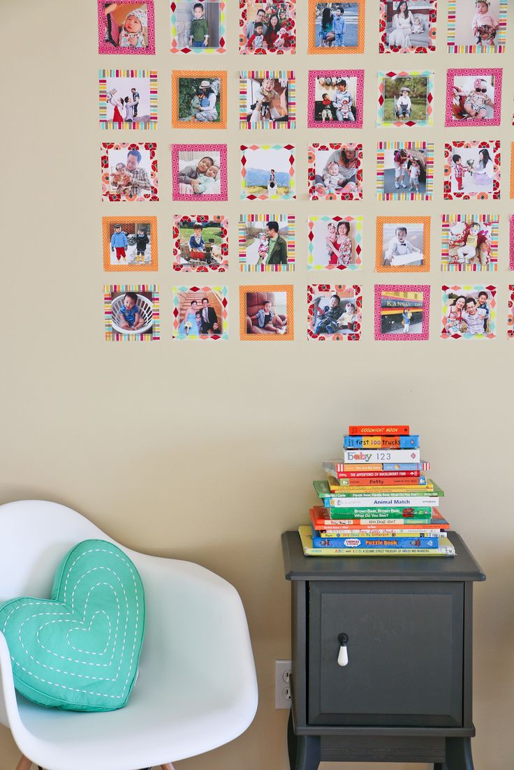 Sandy a la Mode | DIY Instagram Wall with Washi Tape. A great idea for an inexpensive but chic gallery wall.