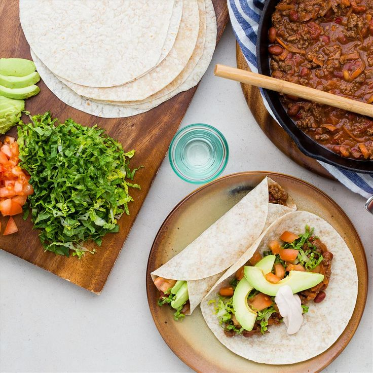 Soft Beef Tacos with Avocado and Chipotle Sour Cream