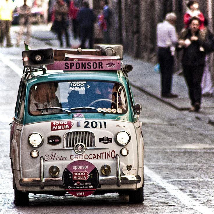 "redpuffin: "" (via Fiat 600 multipla mister croccantino 1000 miglia - a photo on Flickriver) """