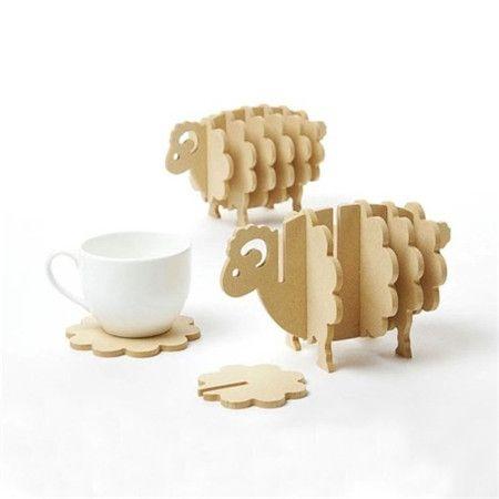 专利之家-设计发明与创意商机 » 可爱的绵羊杯垫
