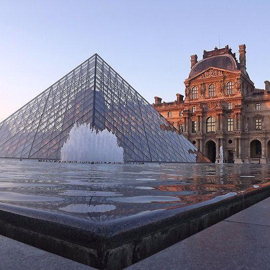 The Louvre, Paris at sunset