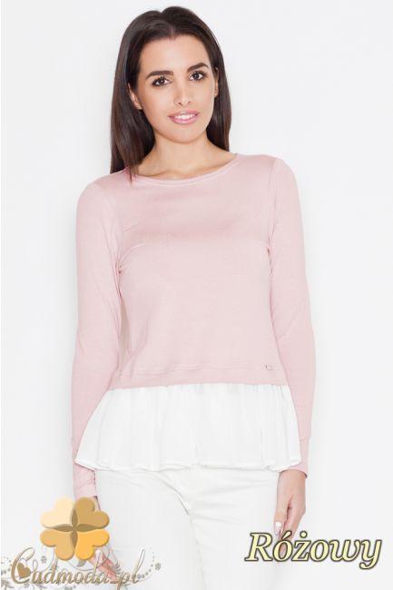 Elegancka bluzka z lekką falbanką na dole marki Katrus.  #cudmoda #moda #ubrania #odzież #clothes #bluzki #styl