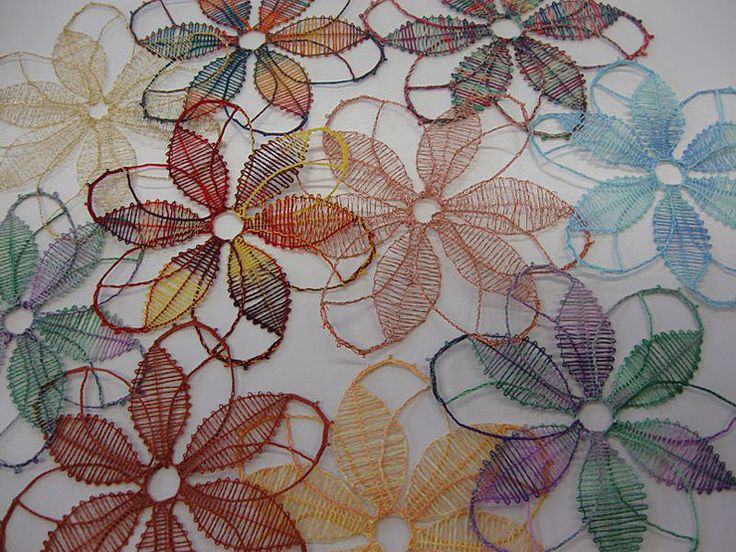 Flowers. Bobbin lace. Jutta Reichmann.