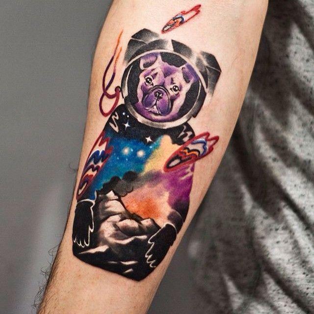 dog astronaut tattoo - photo #24
