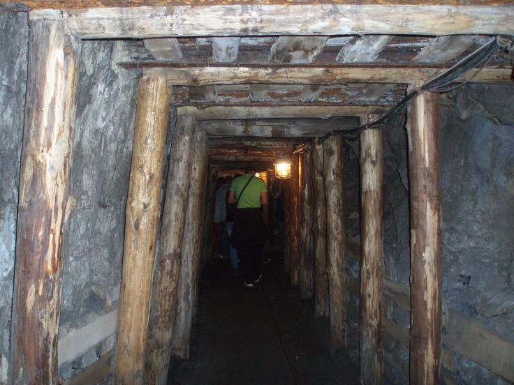Staré důlní dilo vystuženo dřevem