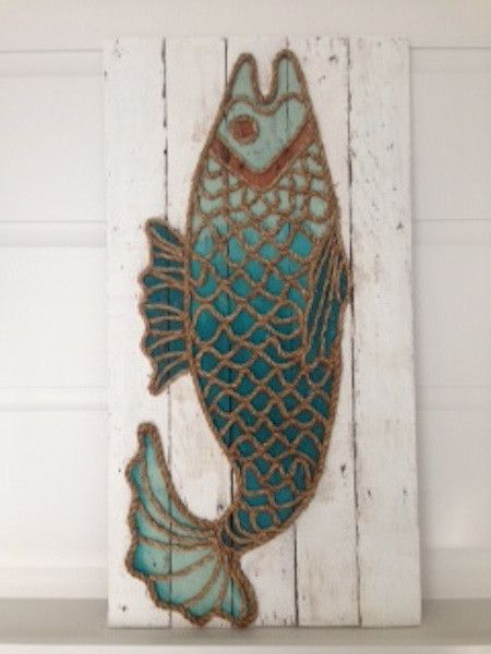 "Vertical Fish 35"" x 16"" 