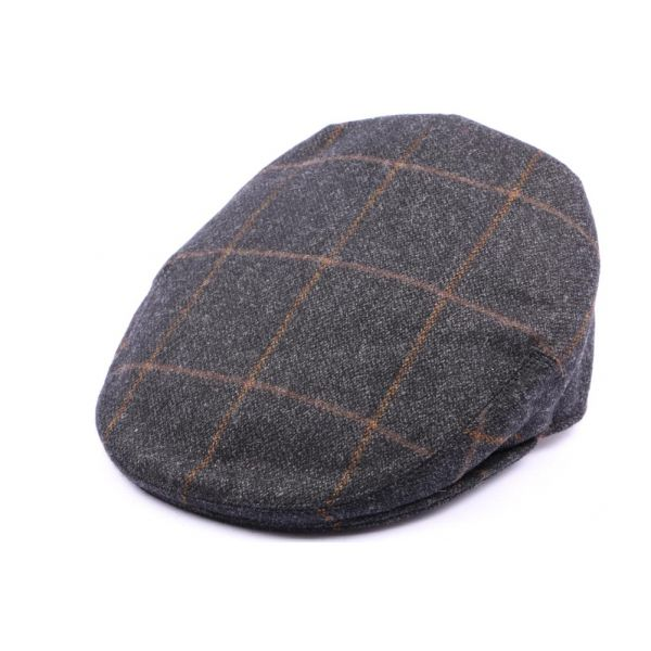 Casquette Plate Kinloch Tweed Anthracite Taille 58 #casquette #mode #homme #chic #british