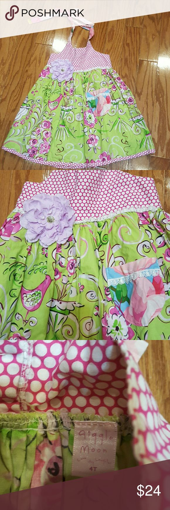 Weekend Sale...Giggle Moon Sun Dress Adorable Giggle Moon sundress. Ties around neck. Very good condition. Dresses Casual
