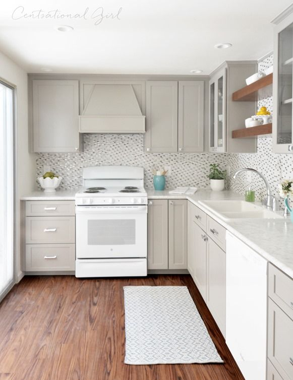 Best Gray White Kitchen Remodel Beige Kitchen White 640 x 480