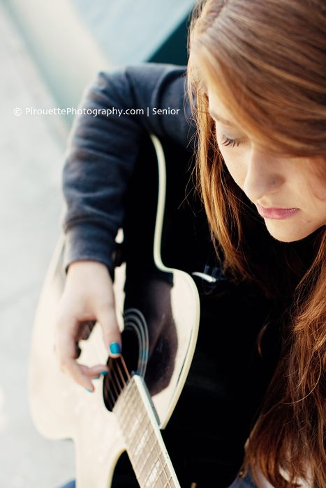 Sierra | Santa Monica High School Senior Photography » Pirouette Photography | perspective girl and guitar