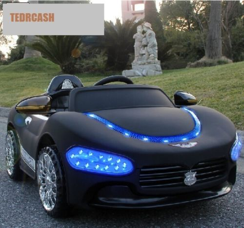 Number 2: Maserati Children Electric Car Ride On with Remote Controller and Blue Headlight