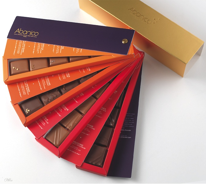 Abanico Chocolates. I can picture myself going around the office offering these chocolates, all fanned out in this conveniently designed package.
