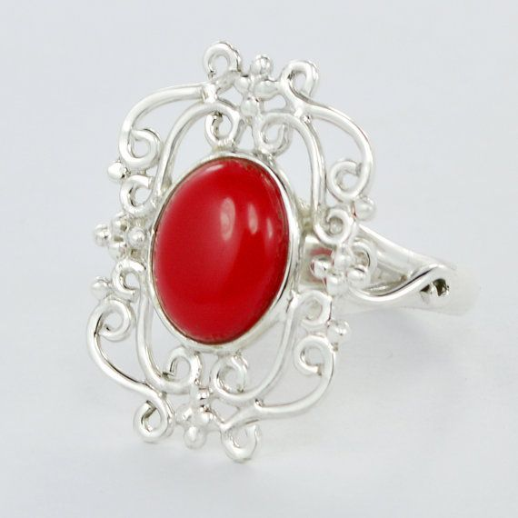 Last 2 days Summer offer:Get 25% discount on Min Purchase $25 Use Coupon Code -SUM15  Latest Design Red Coral Gemstone 925 Sterling by DevmuktiJewels