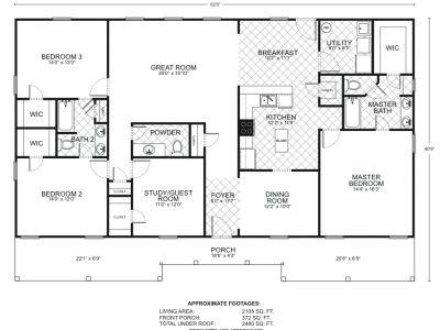 Southwest Homes TX 2100 Sq Ft Floor plans Custom