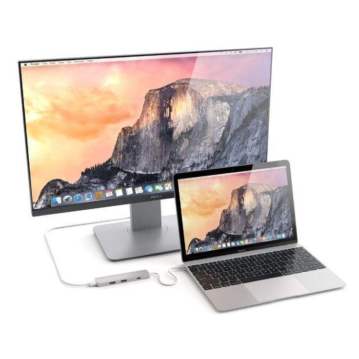 Satechi Slim USB Type-C MultiPort Adapter med 4K HDMI videoutgång och 2 USB 3.0 portar