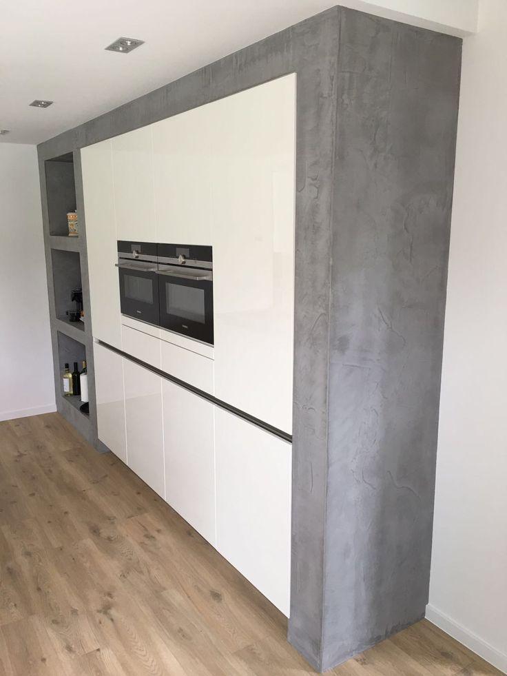 #betoncire #keuken #beal #mortex #betonlook stucadoorsbedrijf peter jansen