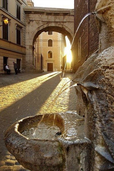 Rome - Italy These water fountains can be found all over Rome for you to refill your water bottles. Delicious water.