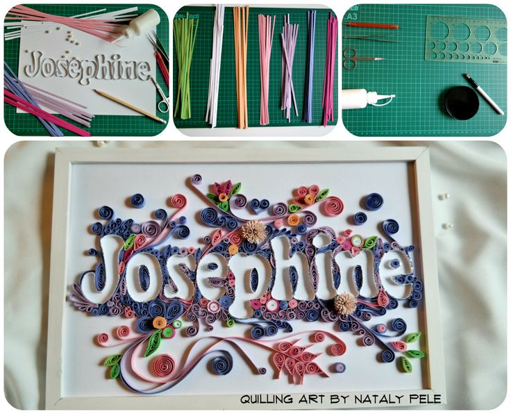 """Quilling Name """"Josephine""""   Work process"""