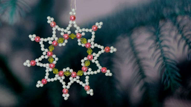 How to make  christmas ornament | DIY beaded christmas ornament |