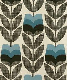 Orla Kiely Rosebud Powder Blue Curtain And Blind Fabric