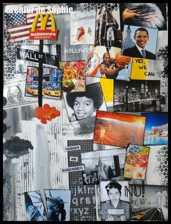 My vision of the USA - 50x60 - Mixed Media Art