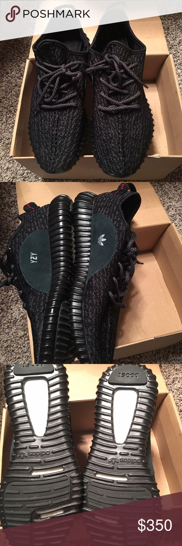 Yeezy boost 350 black pirate Used couple of times its original you can see from the 7 dots at the bottom the price 350 or best offer! more photo available upon request Yeezy Shoes Sneakers