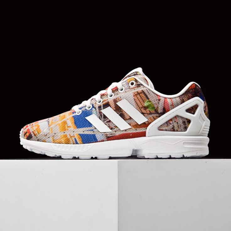 ADIDAS ORIGINALS TORSION ZX FLUX TRAINING WHITE MULTICOLOR PRINTED S75492